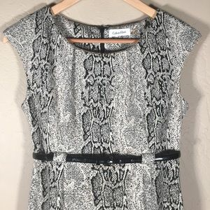 Calvin Klein Dresses - Calvin Klein dress sheath snake print career sz. 4